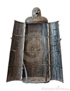 ragazza-di-ferro-ritaglio-medioevale-dell-unità-di-tortura-12333542